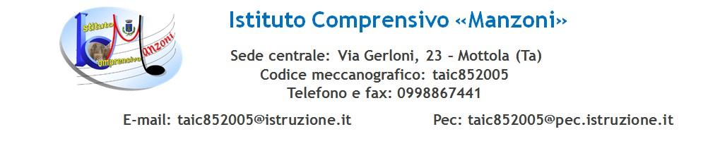 Istituto Comprensivo Manzoni - Mottola